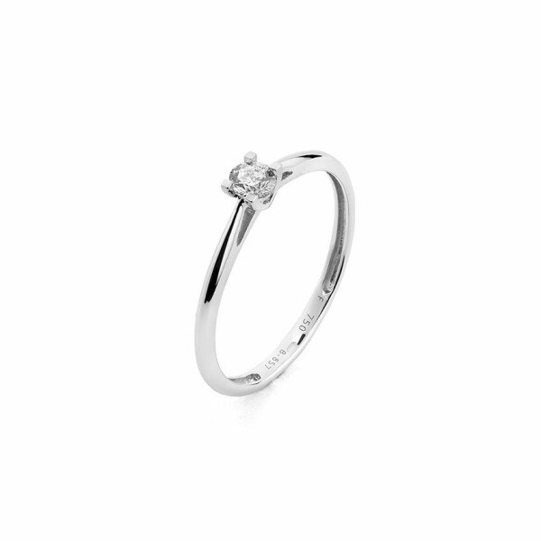 Solitaire en or blanc et diamant de 0.07ct