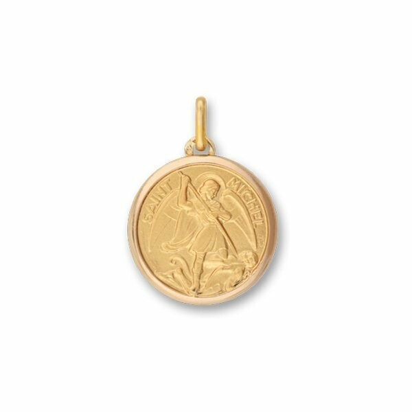Médaille Saint Michel en or jaune
