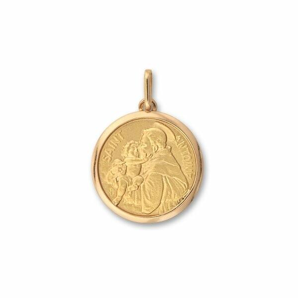 Médaille Saint Antoine en or jaune