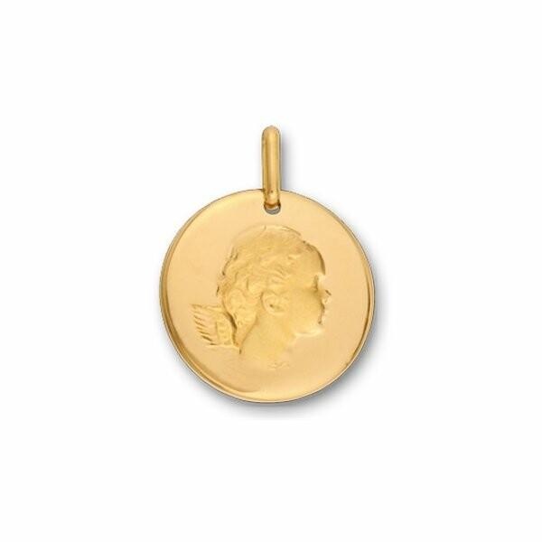 Médaille Ange en or jaune, 17mm
