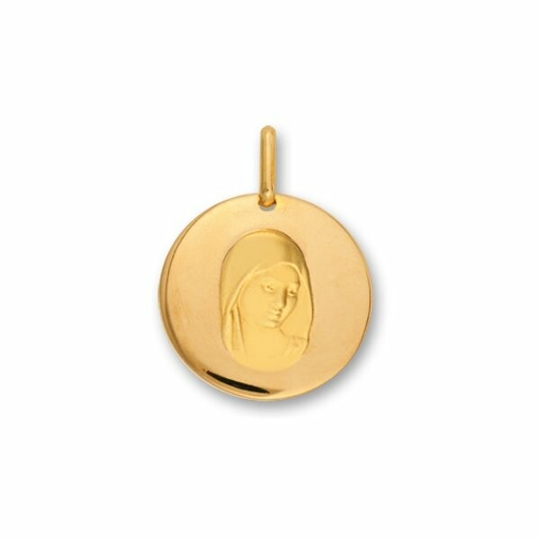 Médaille Vierge en or jaune