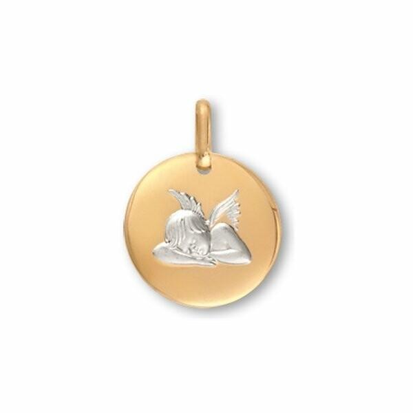 Médaille Ange Lucas Lucor en or jaune et or blanc