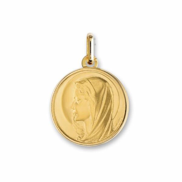 Médaille Vierge en or jaune, 15mm