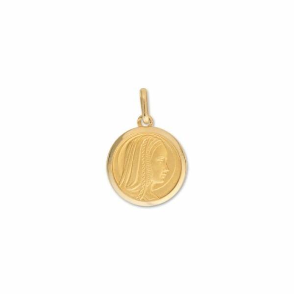 Médaille Vierge en or jaune, 20mm