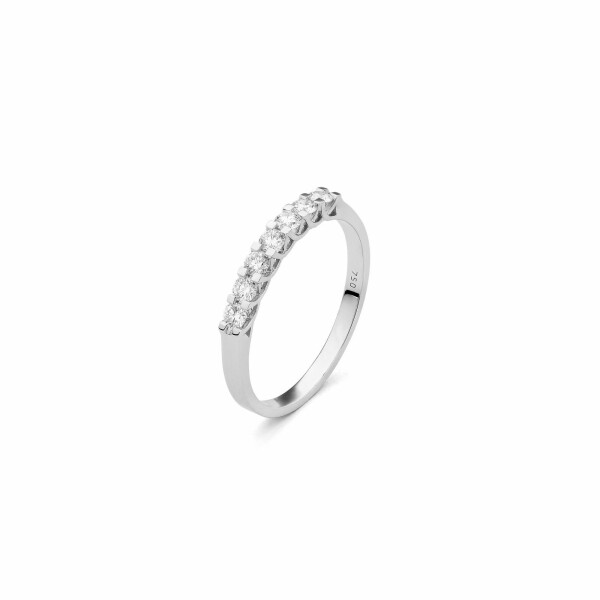 Alliance en or blanc et diamants de 0.75ct