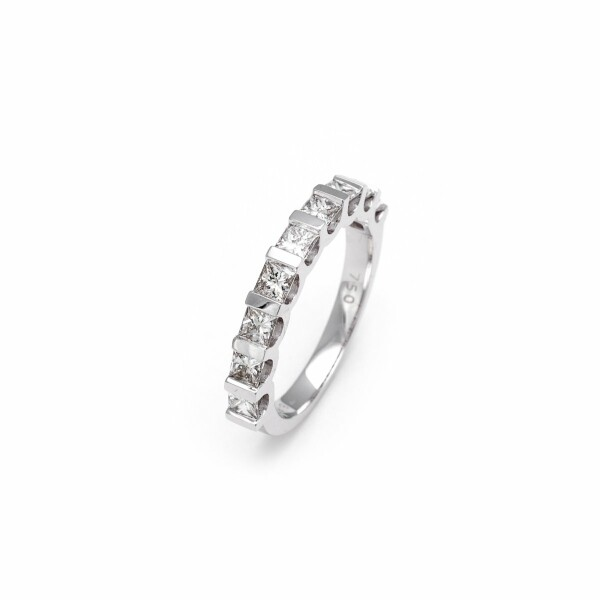 Alliance en or blanc et diamants de 1ct