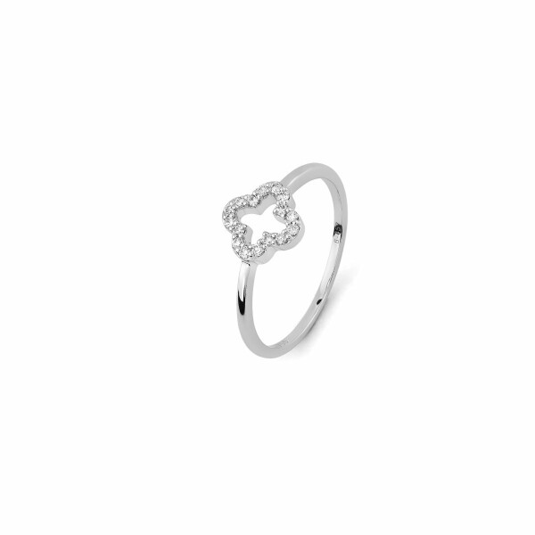 Bague en or blanc et diamants de 0.08ct