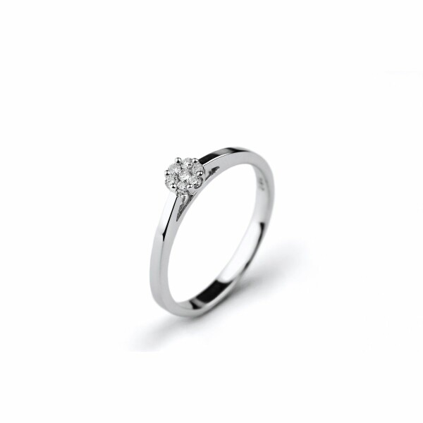 Solitaire en or blanc et diamants de 0.10ct