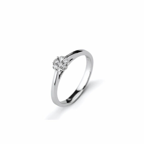 Solitaire en or blanc et diamants de 0.18ct