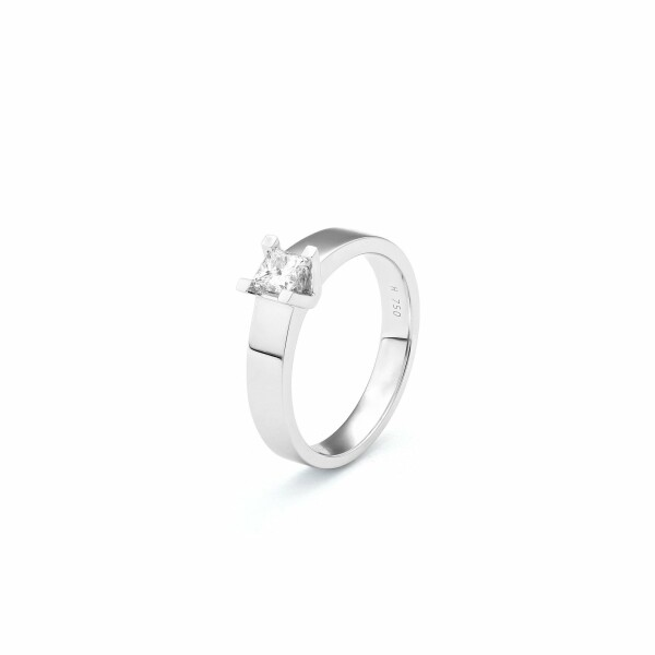 Solitaire en or blanc et diamant de 0.28ct