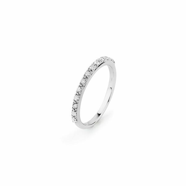 Alliance en or blanc et diamants de 0.24ct
