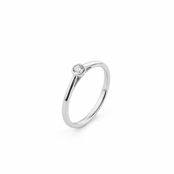 Solitaire en or blanc et diamant de 0.1ct
