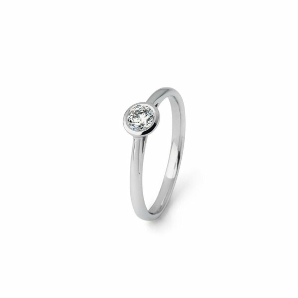 Solitaire en or blanc et diamant de 0.33ct