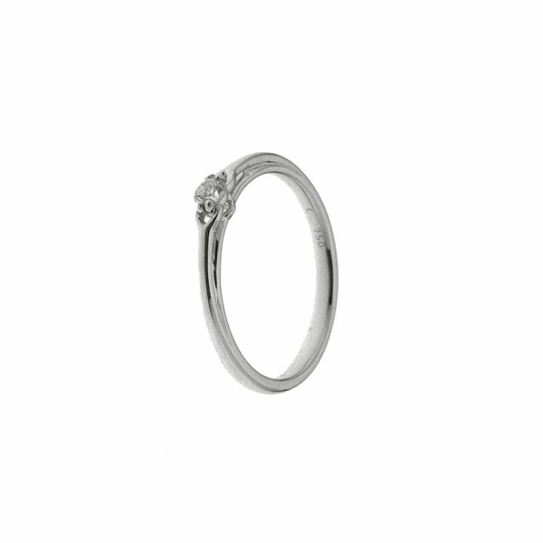 Solitaire en or blanc et diamant de 0.10ct