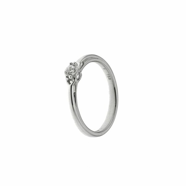 Solitaire en or blanc et diamant de 0.15ct