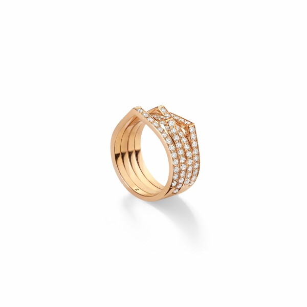 Bague Repossi Antifer en or rose et diamants