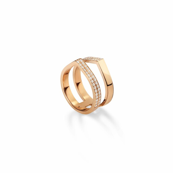 Bague Repossi Antifer Off-Width en or rose et diamants