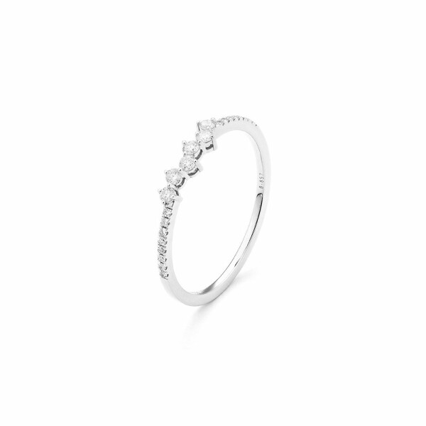 Alliance en or blanc et diamants de 0.17ct