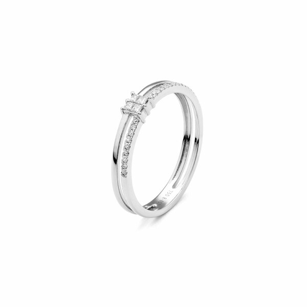 Bague en or blanc et diamants de 0.15ct