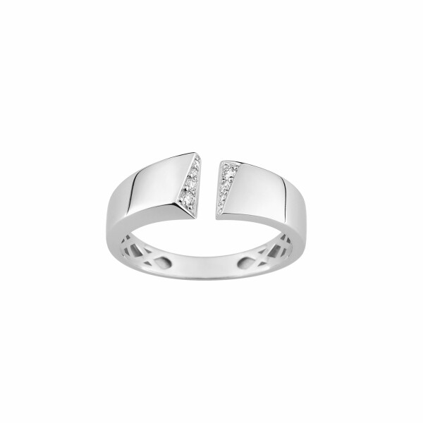 Bague en or blanc et diamants de 0.072ct