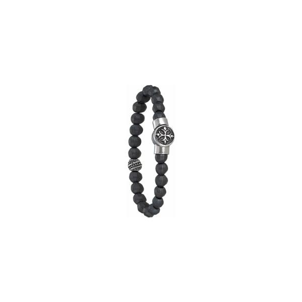 Bracelet Jourdan Bijoux Papayo en acier et hématite
