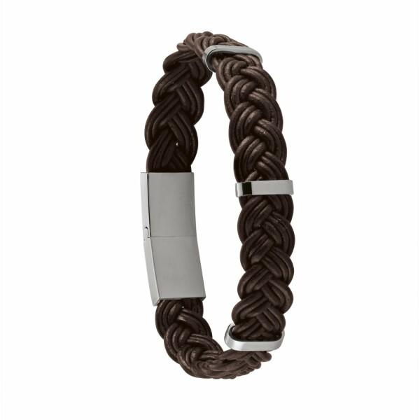 Bracelet Jourdan Bijoux Claraz en cuir et acier