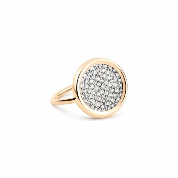 Bague GINETTE NY DISC RINGS en or rose et diamant
