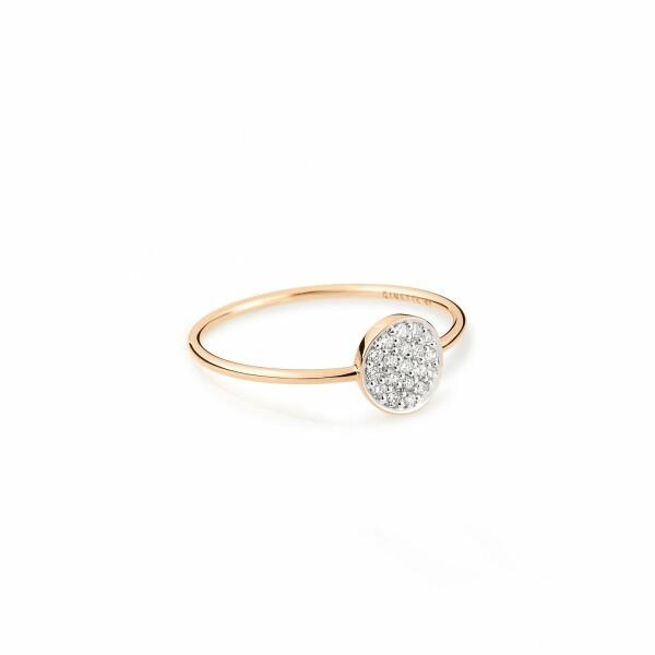 Bague GINETTE NY MINI EVER en or rose et diamants