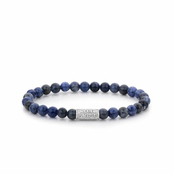 Bracelet Rebel & Rose Midnight Blue - 6mm en sodalite