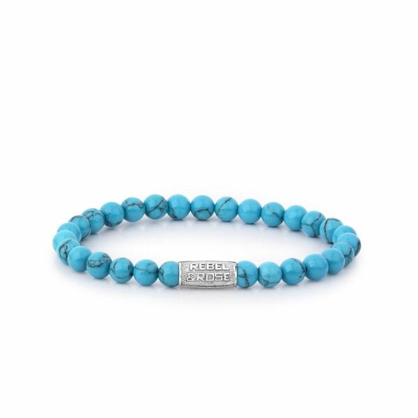 Bracelet Rebel & Rose Turquoise Delight - 6mm en turquoise