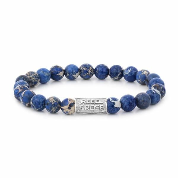 Bracelet Rebel & Rose Universe Blue - 8mm en jaspe