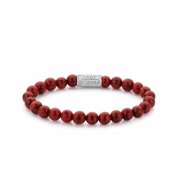 Bracelet Rebel & Rose Red Delight - 8mm en turquoise