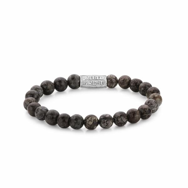 Bracelet Rebel & Rose Brown Sugar - 8mm en obsidienne