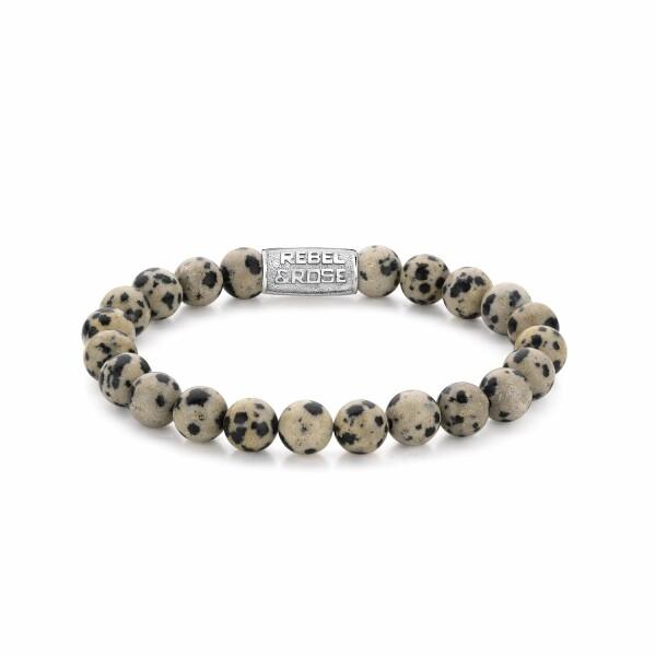 Bracelet Rebel & Rose Dazzling Dalmatians - 8mm en jaspe