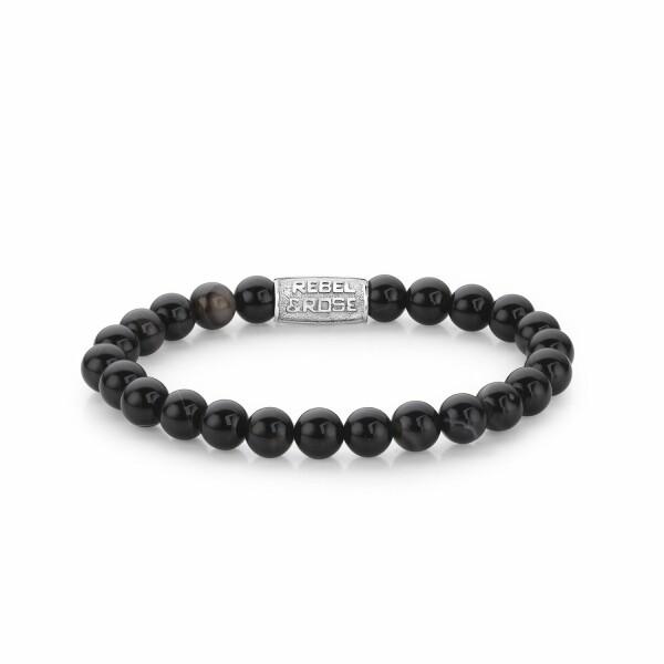 Bracelet Rebel & Rose Black Velvet - 8mm en onyx