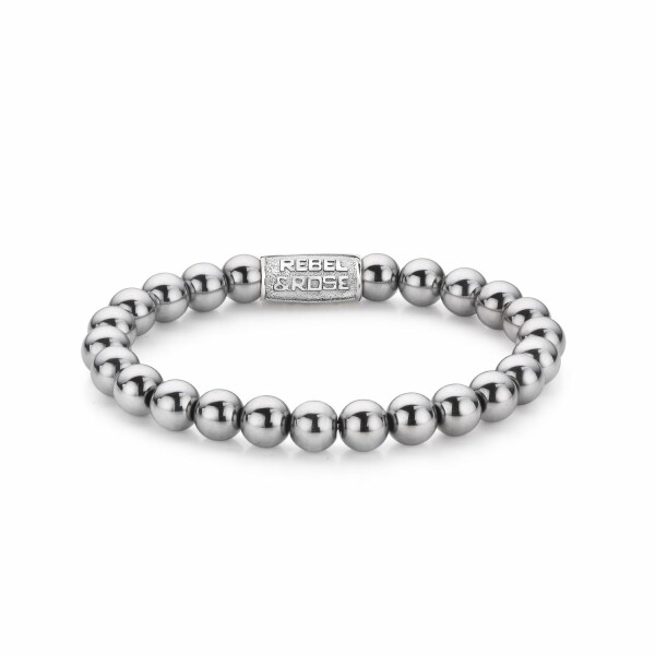 Bracelet Rebel & Rose Silver Shine DV - 8mm en hématite