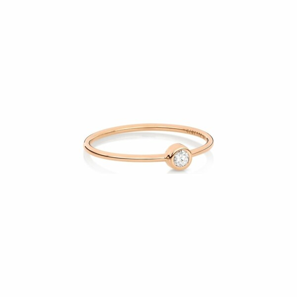 Bague GINETTE NY CIRCLES en or rose et diamant