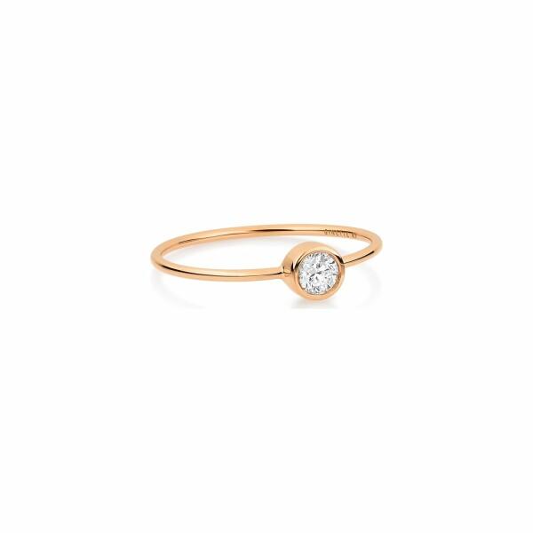 Bague GINETTE NY LONELY DIAMONDS en or rose et diamant