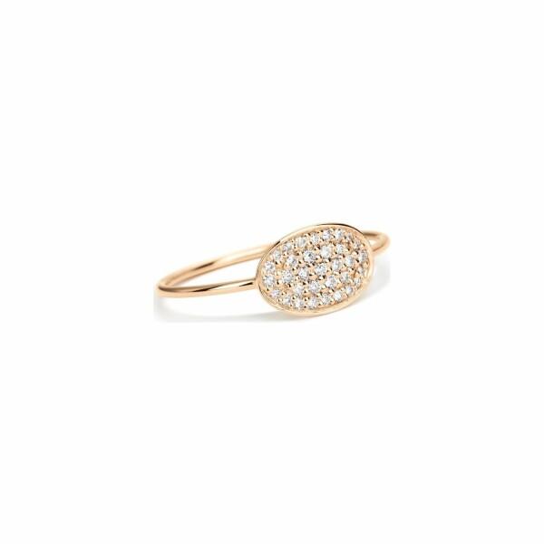 Bague GINETTE NY DIAMOND SEQUINS en or rose et diamant