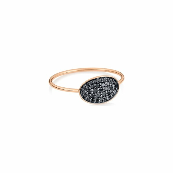 Bague GINETTE NY DIAMOND SEQUINS en or rose et diamants noirs