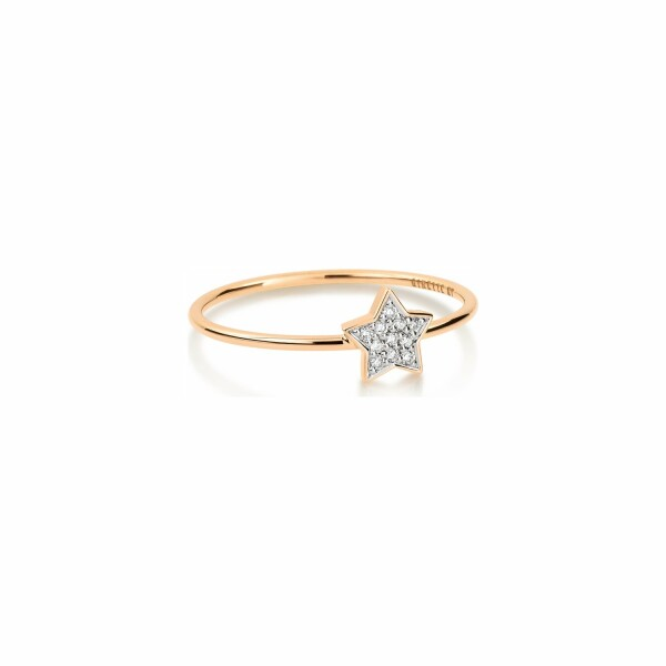 Bague GINETTE NY TINY DIAMS en or rose et diamant