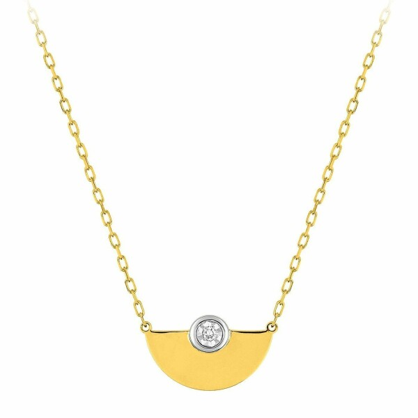 Collier en or jaune et diamant de 0.01ct