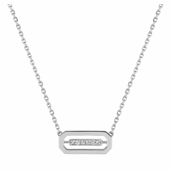 Collier en or blanc et diamants de 0.03ct