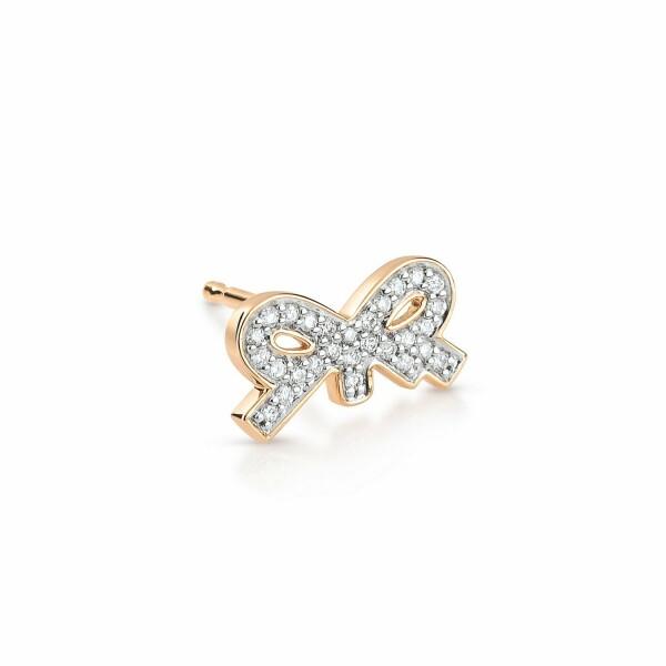 Mono boucle d'oreille GINETTE NY TINY DIAMS en or rose et diamant