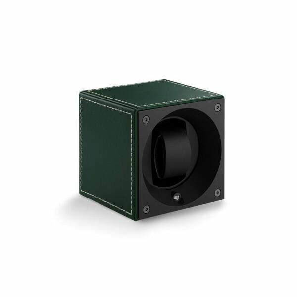 Remontoir pour montre automatique SwissKubiK MASTERBOX en cuir vert