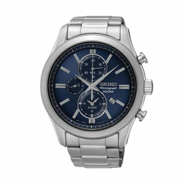 Montre Seiko Sport Chronographe quartz alarme SNAF65P1