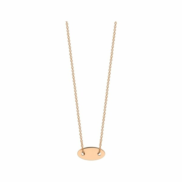 Collier GYNETTE NY ELLIPSES & SEQUINS en or rose