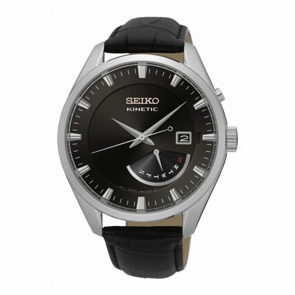Montre Seiko Classique Homme Kinetic 3 aiguilles / jour / date SRN045P2