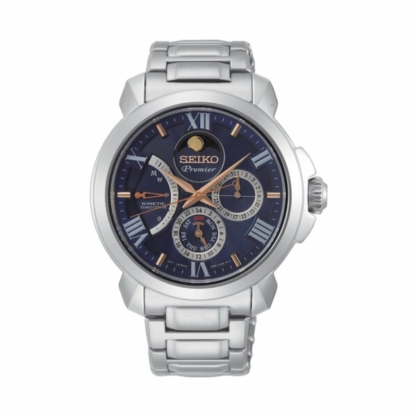 Montre Seiko Premier Kinetic Phase de Lune SRX017P1