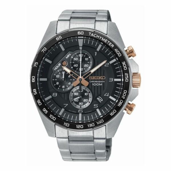 Montre Seiko Sport Chronographe quartz 100M SSB323P1